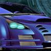 Blue demon car